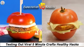 Testing Out Viral Food Hacks By 5 MINUTE CRAFTS   Testing 5 Minute Crafts Healthy Hacks  HungerPlans