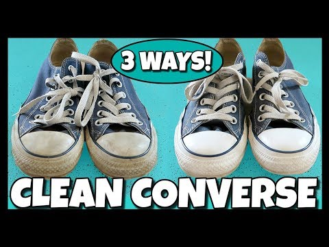 3 WAYS To Clean The White Part Of Your Shoes (Converse) 📍 How To With Kristin