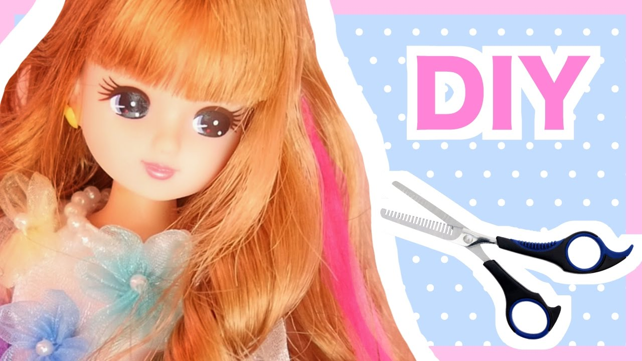 Diy Hair Extensions For Dolls Tutorial Miniature Doll House Youtube