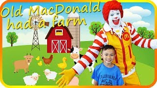 Old MacDonald Had a Farm, Meeting Ronald McDonald, Song & Nursery Rhyme  – TigerBox HD