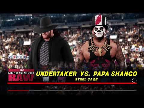 WWE 2K18 Undertaker '91 VS Papa Shango 1 VS 1 Steel Cage Match
