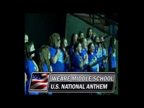 Weare Middle School - U.S. Anthem, October 14, 2016