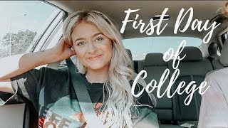 first day of college vlog! *college day in my life*