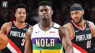 New Orleans Pelicans vs Portland Trail Blazers - Full Highlights | February 21 | 2019-20 NBA Season