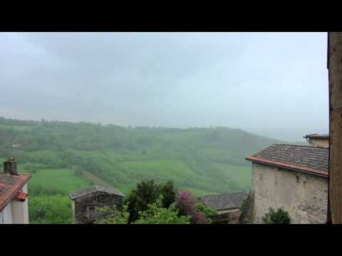 1 Hour Relaxing Spring Rain & Thunder in Southern France, Nature Sounds, Meditation, Background