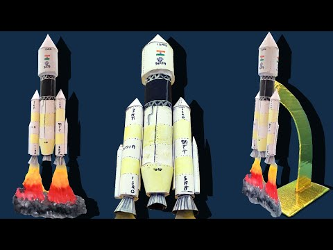 How to make a simple Rocket with paper/A paper Rocket craft/Chandrayaan 2 with paper/DIY
