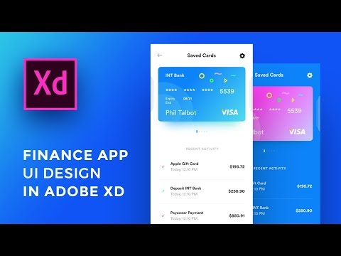 Design Finance App UI Adobe Xd For IPhone Xs - Speed Art Tutorial