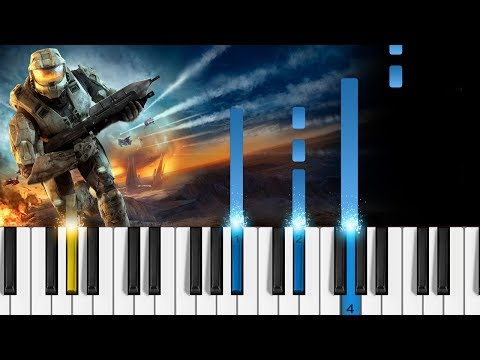 Halo 3 soundtrack - Never Forget - Easy Piano Tutorial