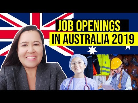 Job Openings in Australia 2019