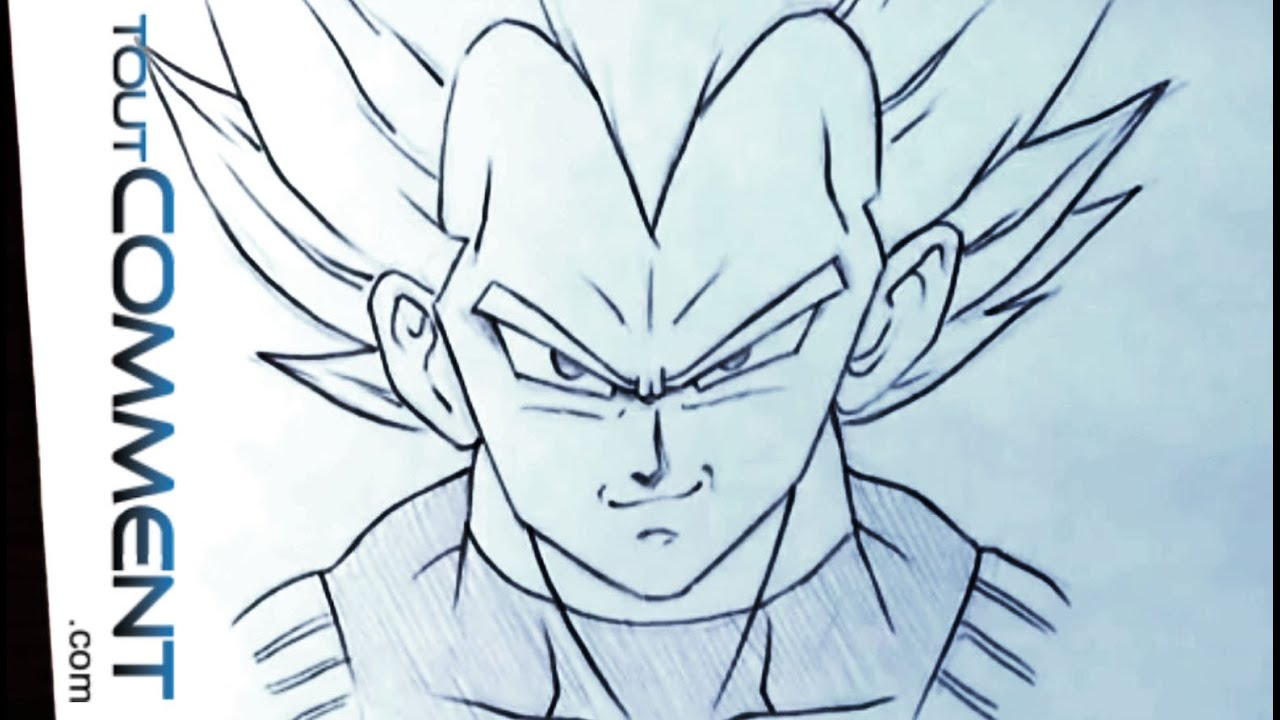 Comment dessiner vegeta dragon ball z youtube - Dessin dragon ball z facile ...