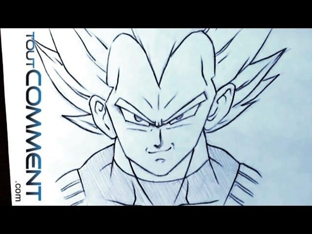 Comment Dessiner Vegeta Dragon Ball Z Youtube