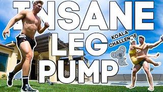 ULTIMATE AT-HOME Leg Challenge // KOALA CHALLENGE Redo