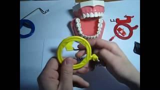 Как использовать держатель снимков для задних зубов (желтый) Периферийный рентген