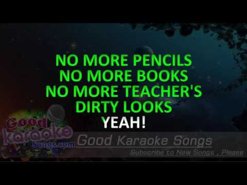 School's Out -  Alice Cooper (Lyrics karaoke) [ goodkaraokesongs.com ]
