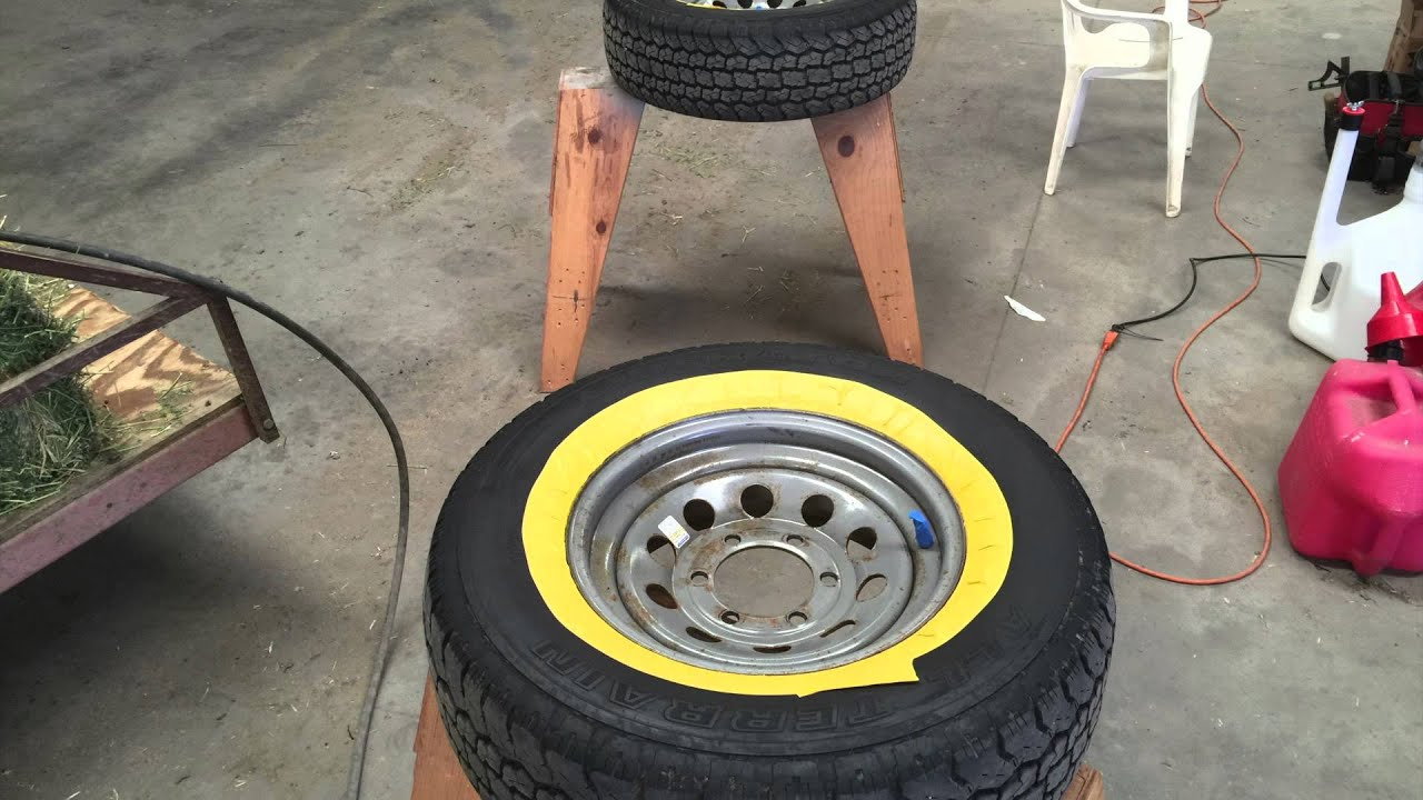 Alloy Wheels Painting >> How to paint wheels without removing the tires - YouTube