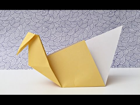 Easy Origami Swans Paper Crafts For Kids Youtube