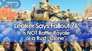 """Leaker Says Fallout 76 is NOT Battle Royale or a Rust """"Clone"""""""