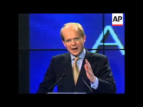 UK: LONDON: WILLIAM HAGUE WINS LEADERSHIP OF TORY PARTY UPDATE