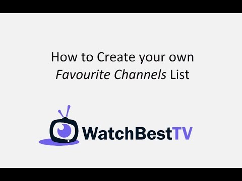 How to create your own favourite iptv channels list on a MAG box