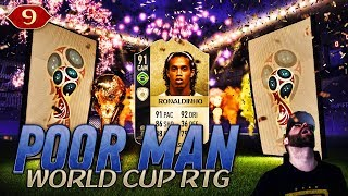 OH MAMAAA!!! I PACK 91 ICON RONALDINHO ON THE RTG!!!!!! - POOR MAN WORLD CUP RTG #9 - FIFA 18