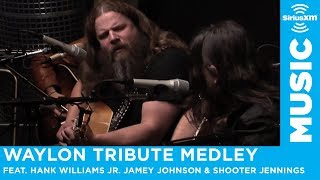 "Hank Williams Jr. Jamey Johnson & Shooter Jennings ""Waylon Tribute Medley"""