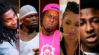 Rappers Going Crazy and Throwing Hands Comp List (Lil Wayne 50 Cent NBA YoungBoy T.I. Birdman Lil B)