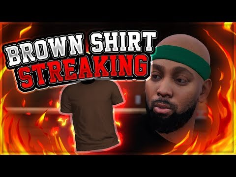 NBA 2K18 MyPARK - STREAKING IN BROWN T-SHIRT LIVE STREAM! (PS4 Pro Gameplay)