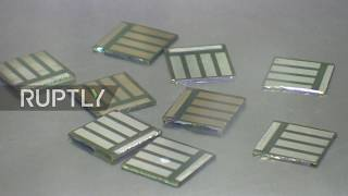 Russia: Moscow lab shows off development of potentially revolutionary solar panels