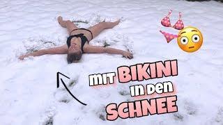 Im BIKINI in den Schnee - Wette verloren 😳 ❄️| Bibi