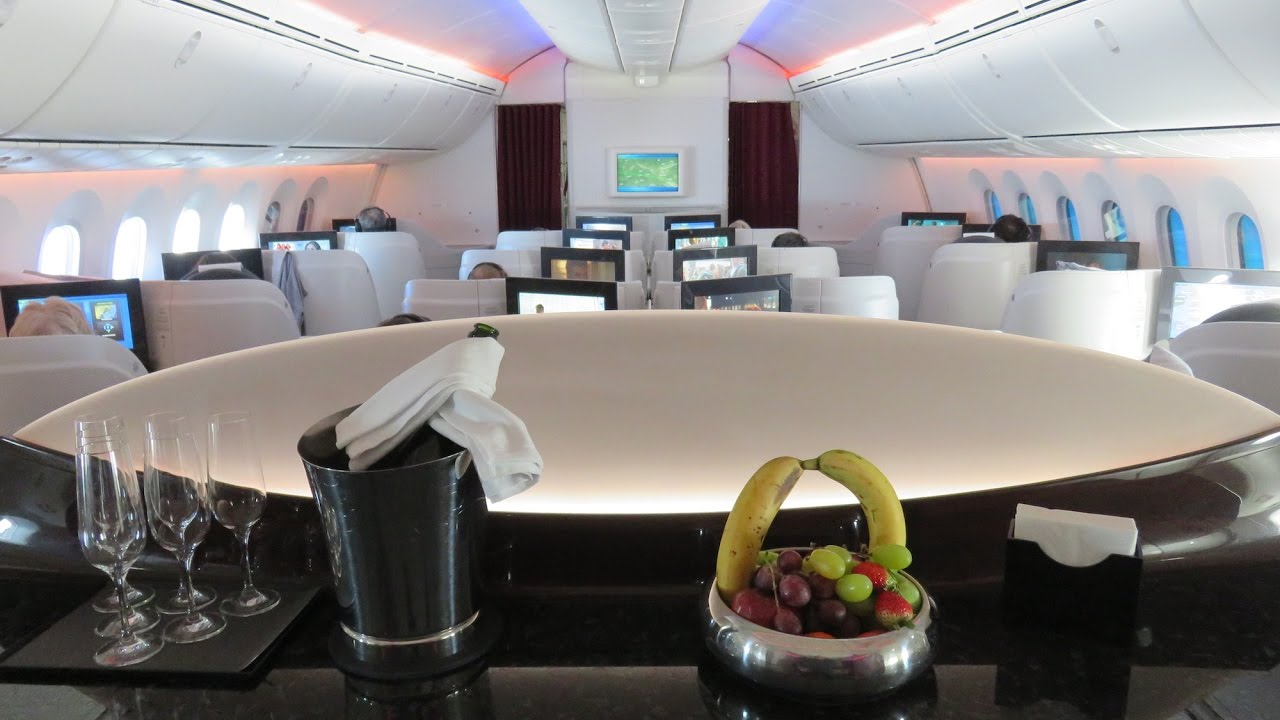 Qatar Airways Dreamliner B787-8 Business Class Brussels to Doha