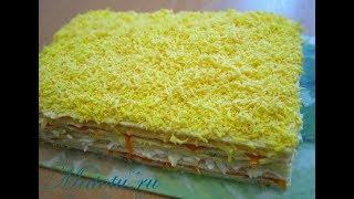 Торт закусочный, вафельный, селёдочный  Ну очень вкусно...