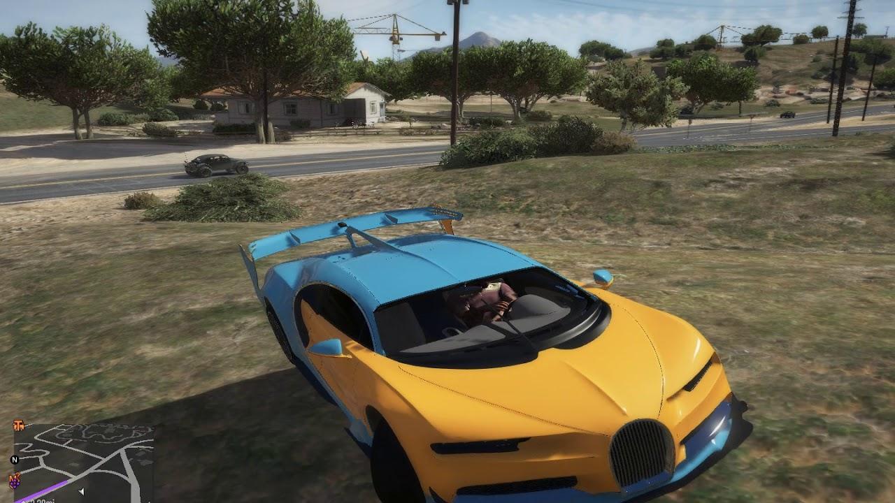 Grand Theft Auto V CAR MOD BUGATTI CHIRON - YouTube