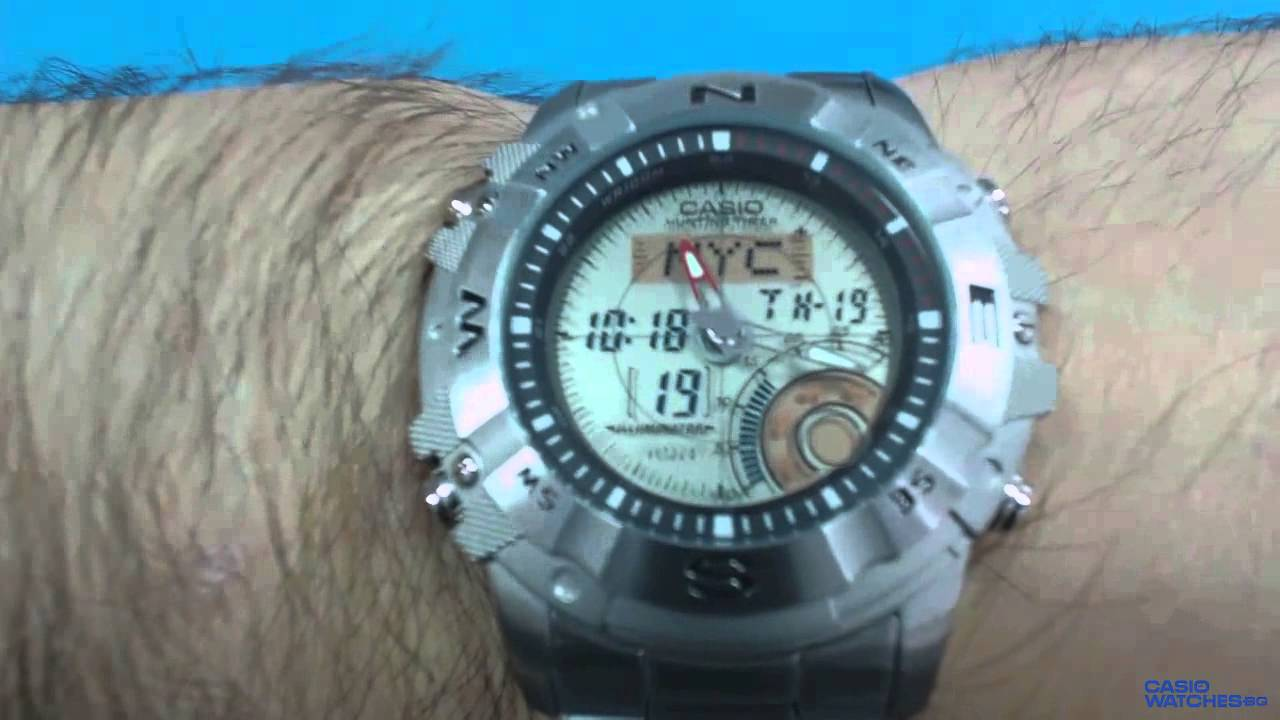 804d9c9d523b Casio Outgear Hunting AMW-704D-7AV - YouTube