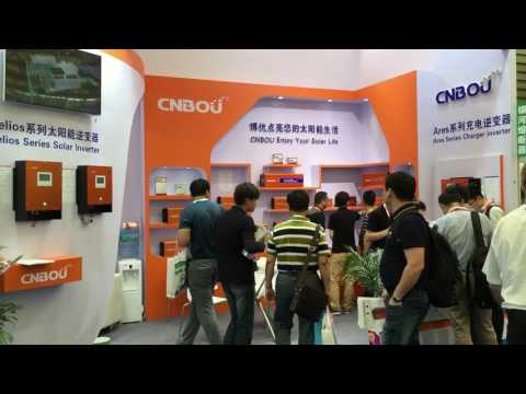 SNEC  PV Power EXPO 2016, CNBOU is hot brand of Solar Products.