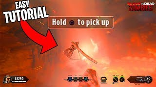 How To Get HELL'S RETRIEVER in BLOOD OF THE DEAD (Black Ops 4 Zombies Gameplay Tomahawk Tutorial)
