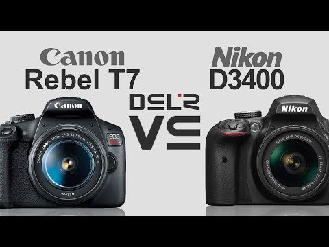 Canon Eos Rebel T7 2000d 1500d Kiss X90 Vs Nikon D3400