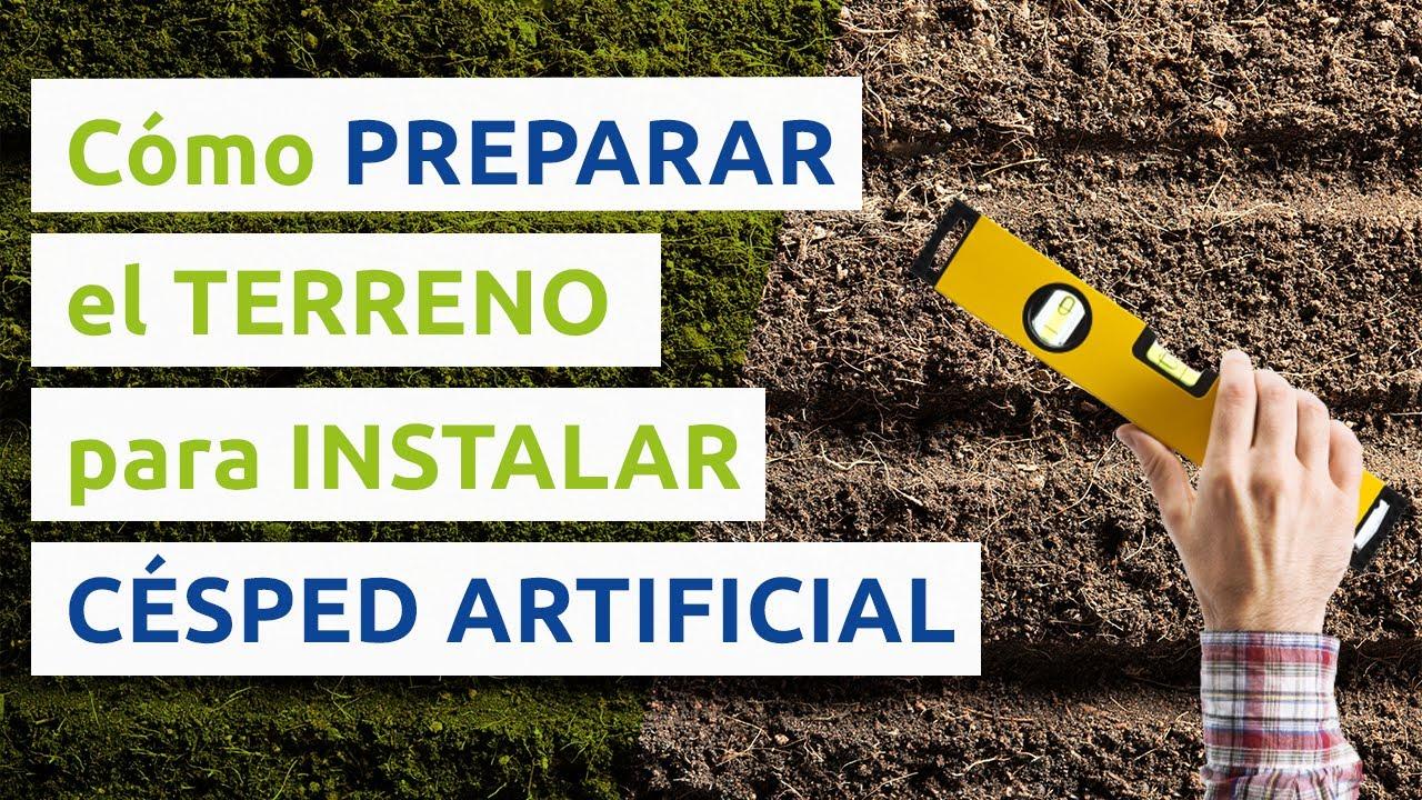 C mo preparar terreno para instalar el c sped artificial - Como instalar cesped artificial sobre tierra ...