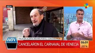 Alerta máxima en Italia por coronavirus: cancelaron el carnaval de Venecia y aislaron 11 localidades