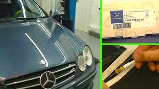 Mercedes Benz CLK | Soft top repairs on the rear window