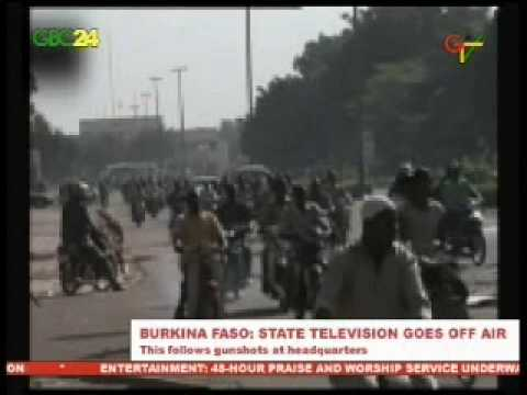 Burkina Faso National Television went off air after gunshots