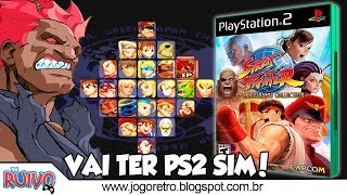 Street Fighter 30th Anniversary Collection no Playstation 2