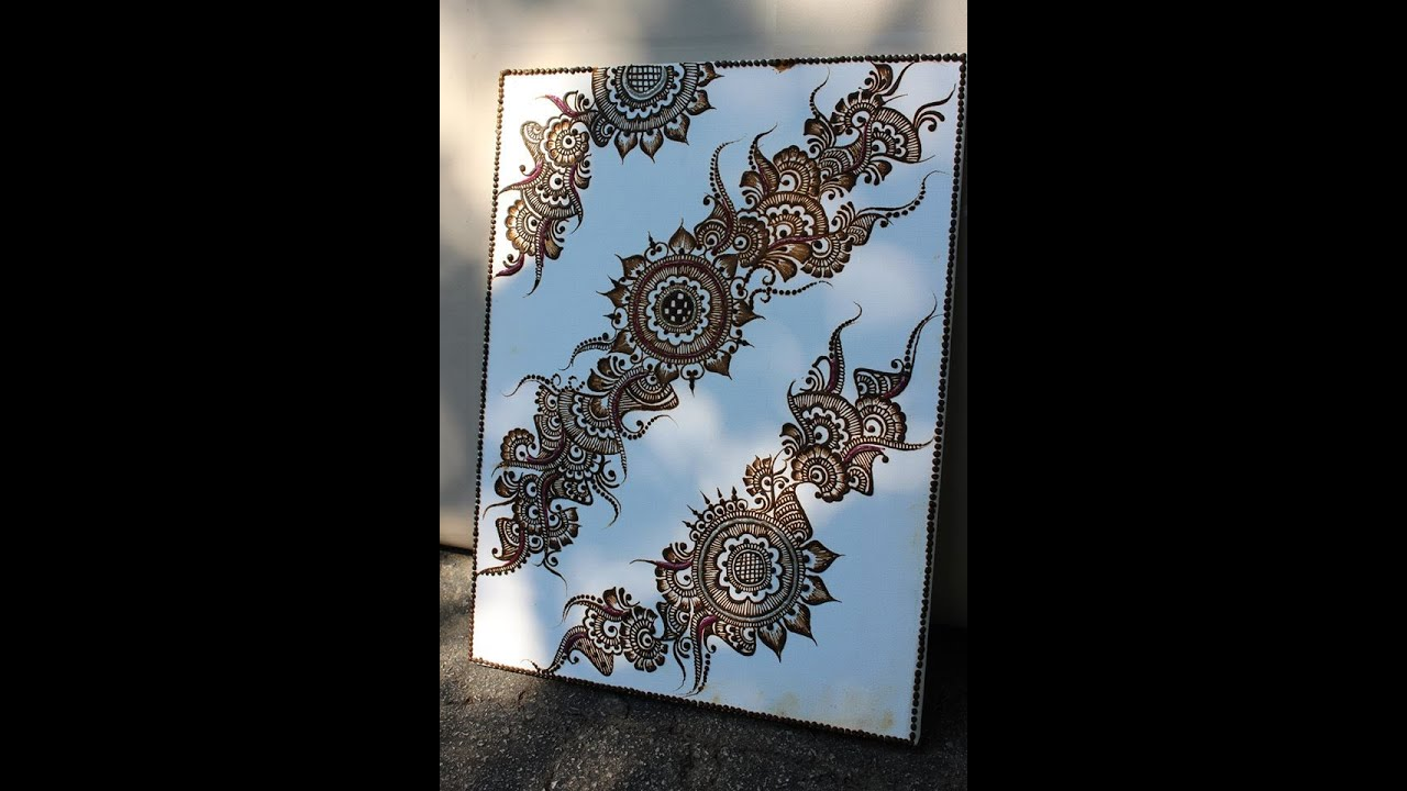 Henna Art Painting Design