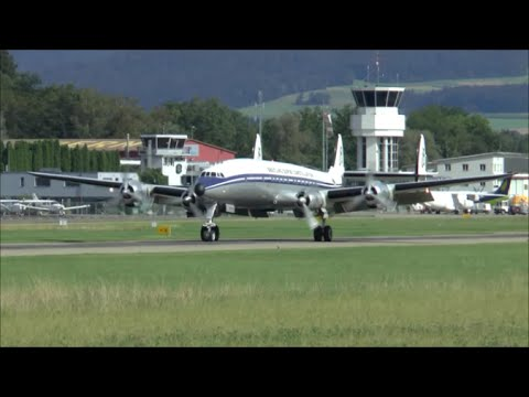 Breitling Super Connie take-off & landing at Berne Airport - 09/08/2014