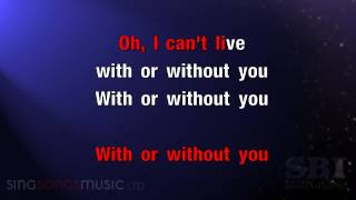 Download With Or Without You   Karaoke HD In the style of U2 Mp3 and Videos