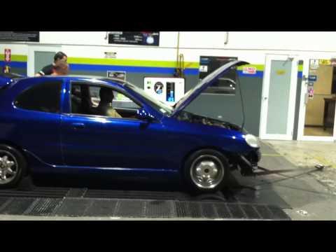daewoo lanos 2.0 turbo en dyno de anasco, puerto rico