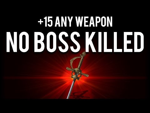 Dark Souls 1 : How To Make A +15 Weapon With NO BOSS Killed