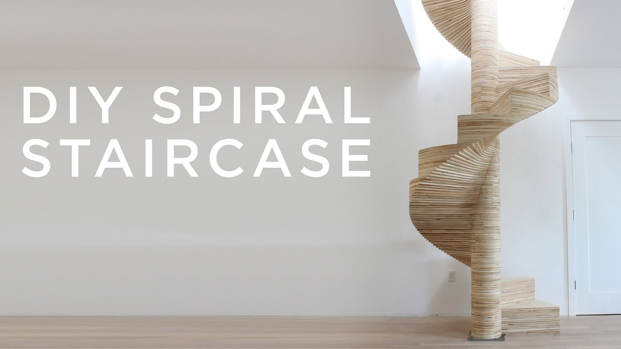 easy modern stairs design indoor.  DIY Spiral Staircase made with a CNC YouTube