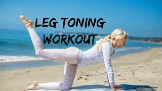 LEG DAY WORKOUT (MALIBU, CALIFORNIA) ☀ HOW TO GET PERFECT TONED LEGS