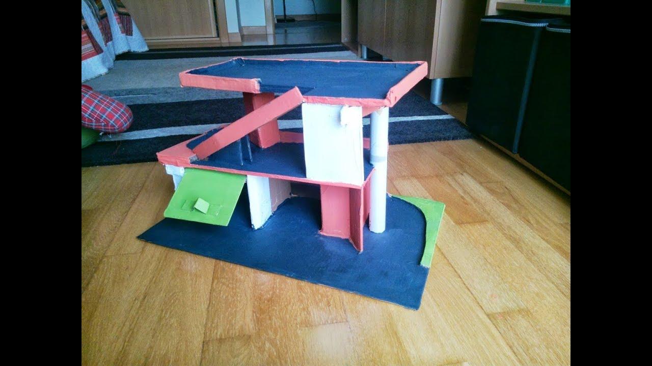 Cardboard Parking Garage Toy DIY - YouTube