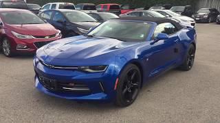 2018 Chevrolet Camaro LT Convertible Hyper Blue Metallic Roy Nichols Motors Courtice ON